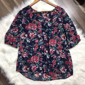 Skies are Blue Womens floral blouse